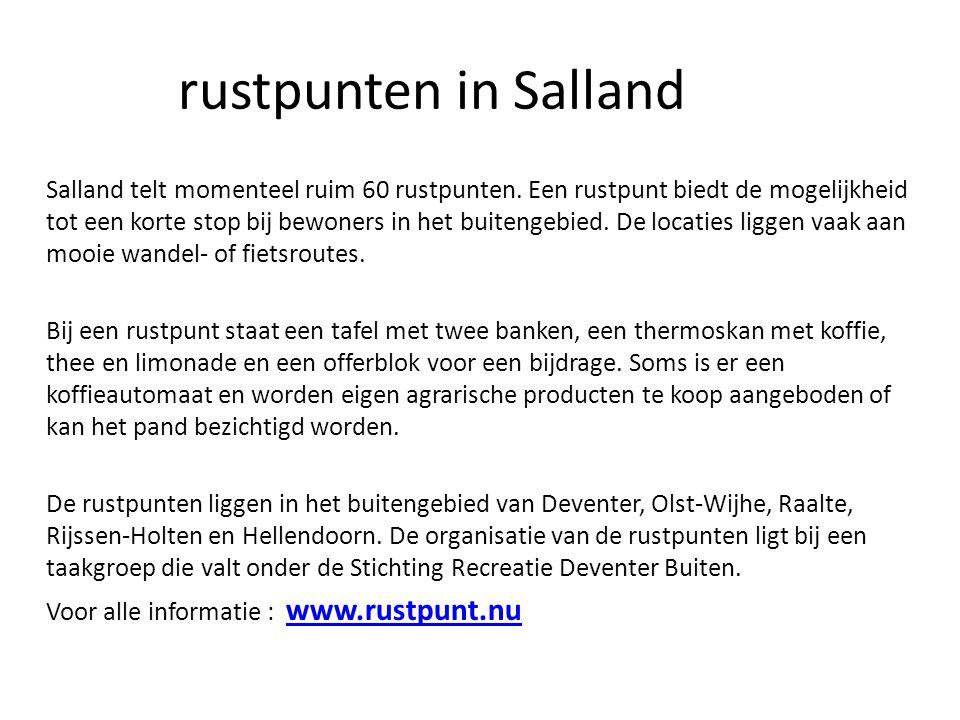rustpunten in Salland