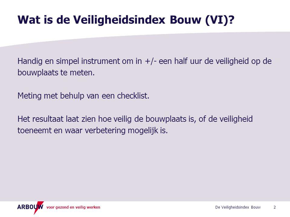 Wat is de Veiligheidsindex Bouw (VI)