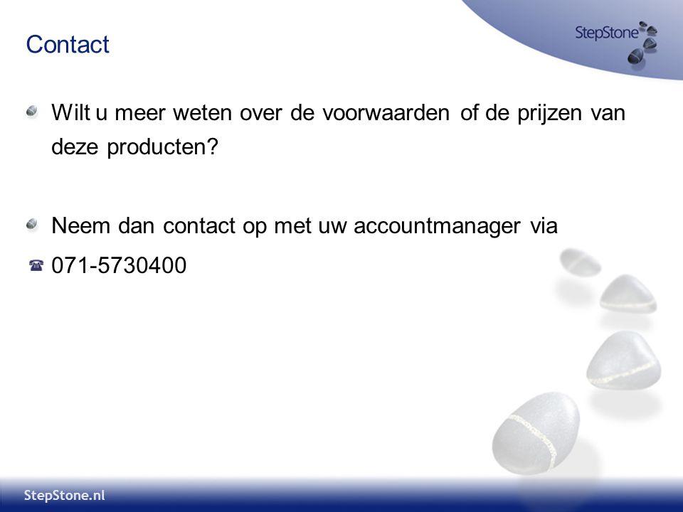 Contact Wilt u meer weten over de voorwaarden of de prijzen van deze producten Neem dan contact op met uw accountmanager via.