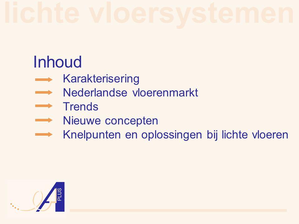 lichte vloersystemen Inhoud Nederlandse vloerenmarkt Trends