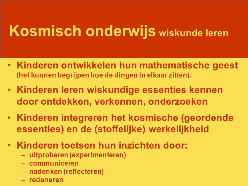 Kosmisch onderwijs wiskunde leren