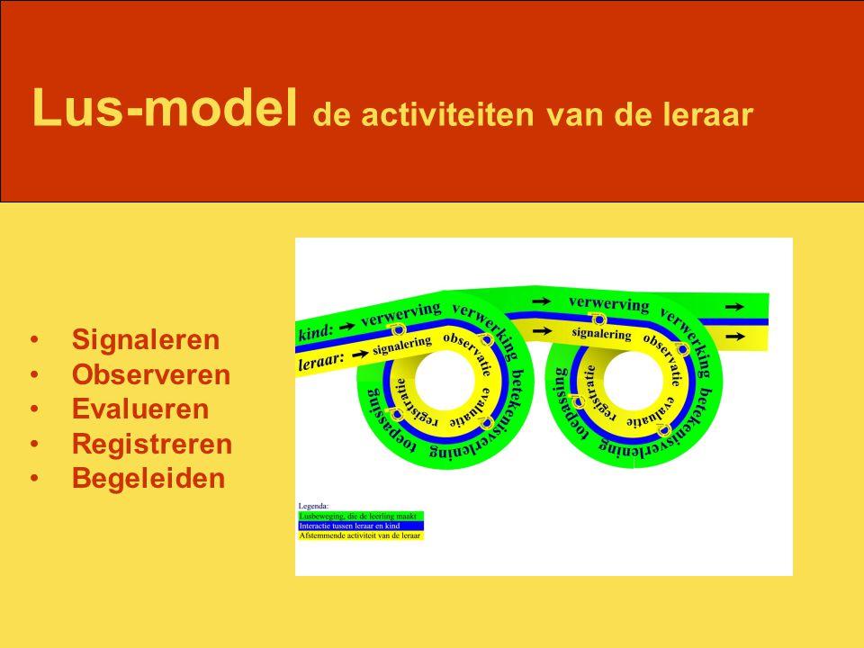 Lus-model de activiteiten van de leraar