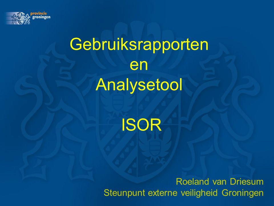 Gebruiksrapporten en Analysetool ISOR