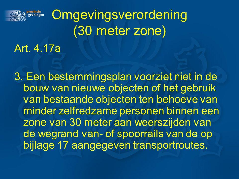 Omgevingsverordening (30 meter zone)