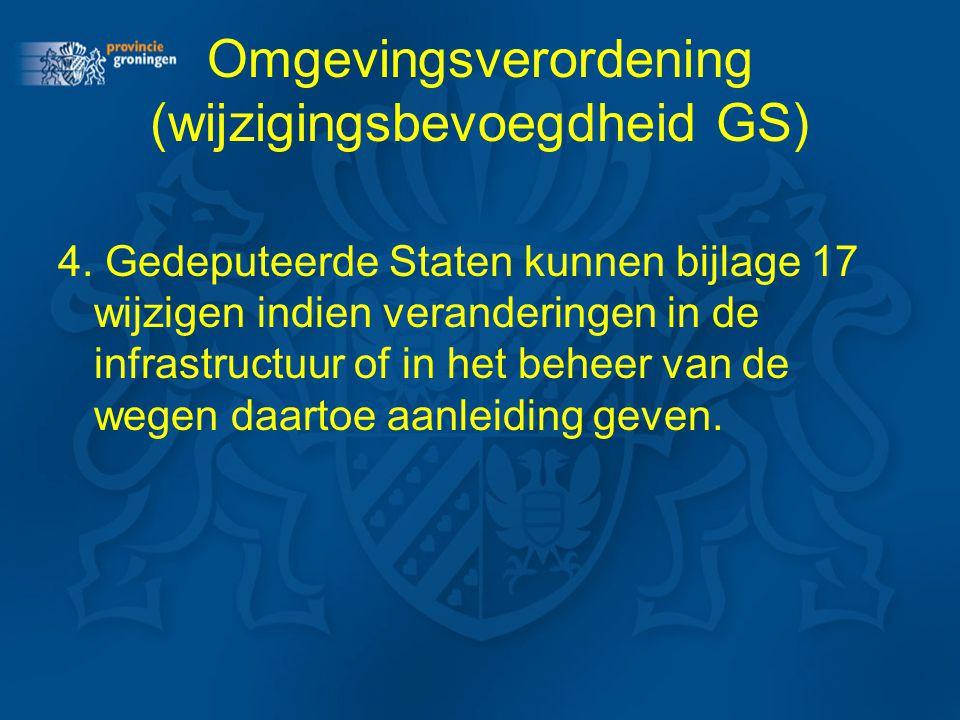 Omgevingsverordening (wijzigingsbevoegdheid GS)