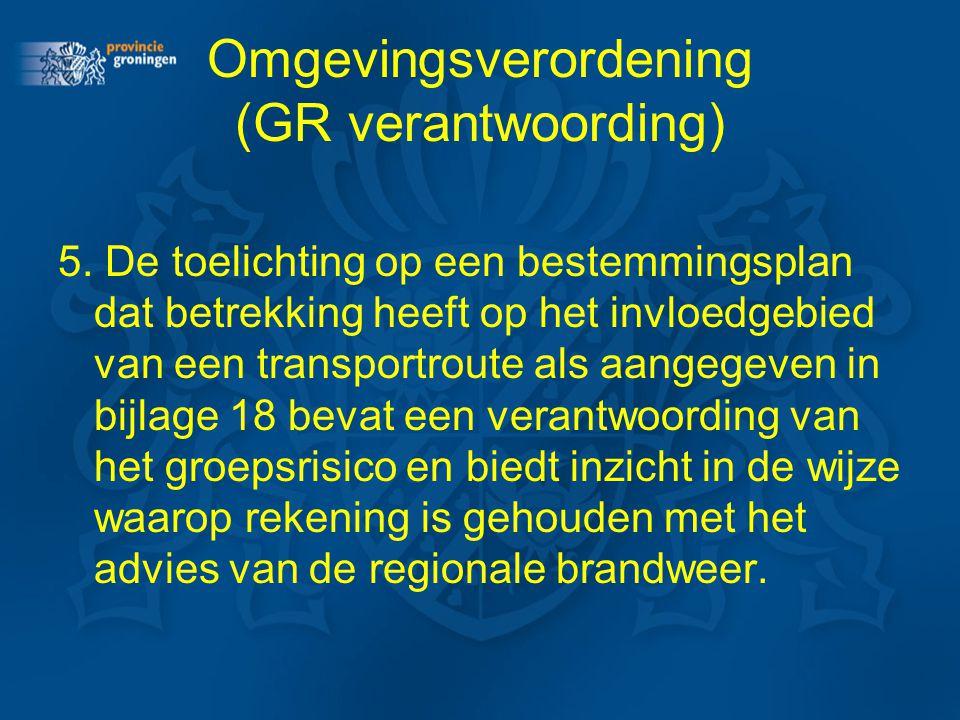 Omgevingsverordening (GR verantwoording)