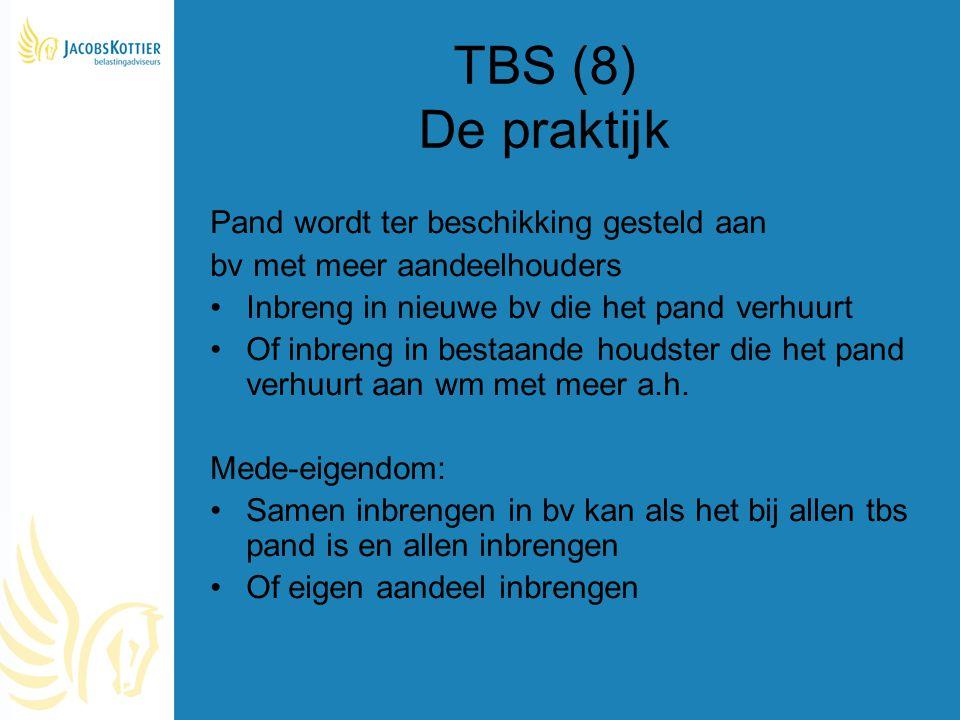 TBS (8) De praktijk Pand wordt ter beschikking gesteld aan