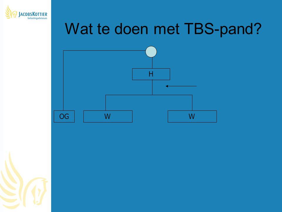 Wat te doen met TBS-pand