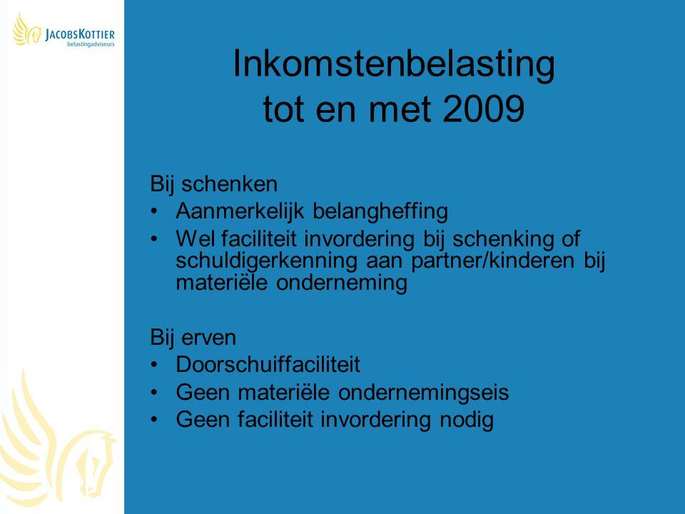 Inkomstenbelasting tot en met 2009