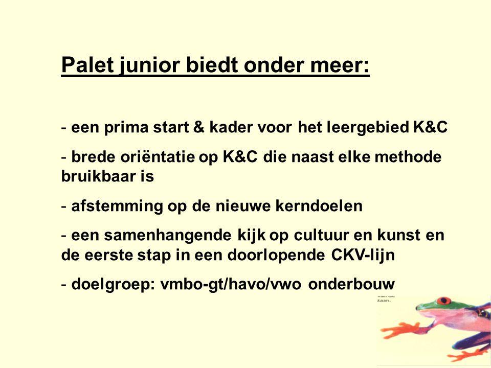 Palet junior biedt onder meer: