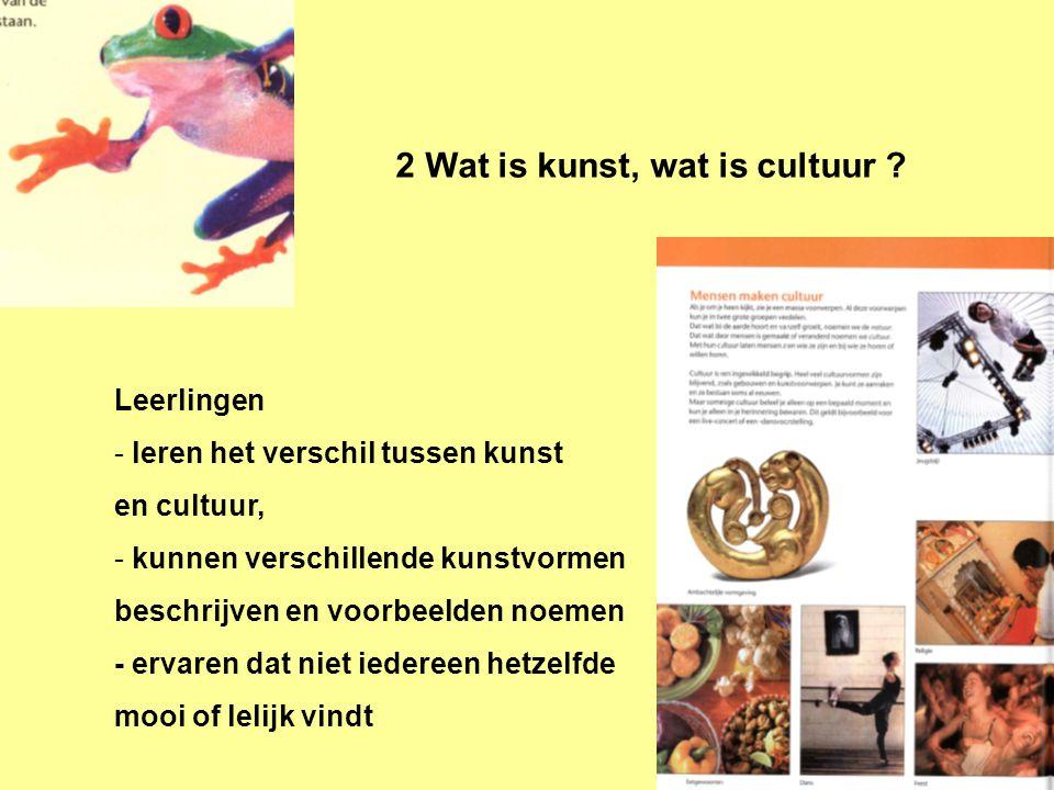 2 Wat is kunst, wat is cultuur