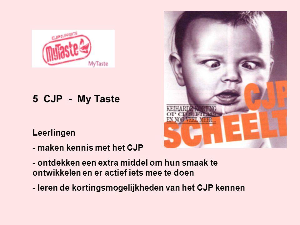 5 CJP - My Taste Leerlingen maken kennis met het CJP