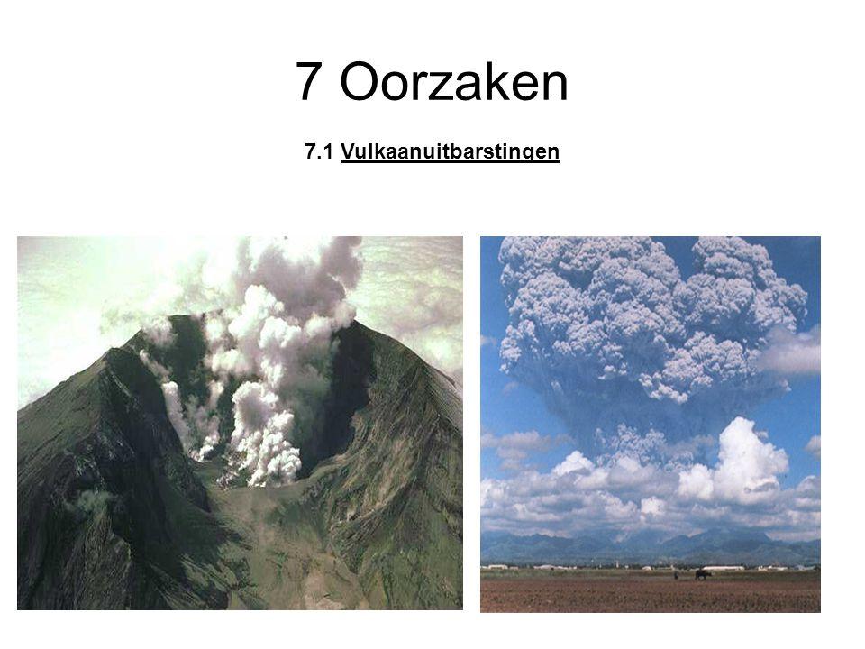 7 Oorzaken 7.1 Vulkaanuitbarstingen