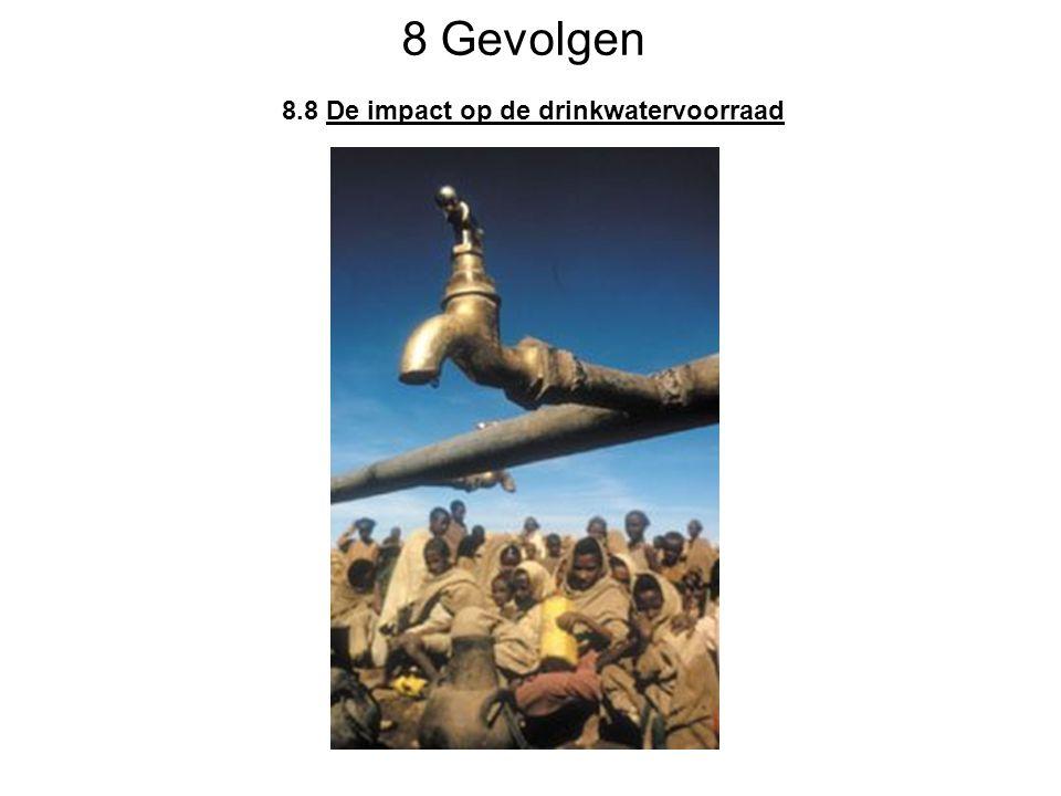 8 Gevolgen 8.8 De impact op de drinkwatervoorraad