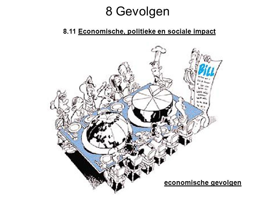 8 Gevolgen 8.11 Economische, politieke en sociale impact