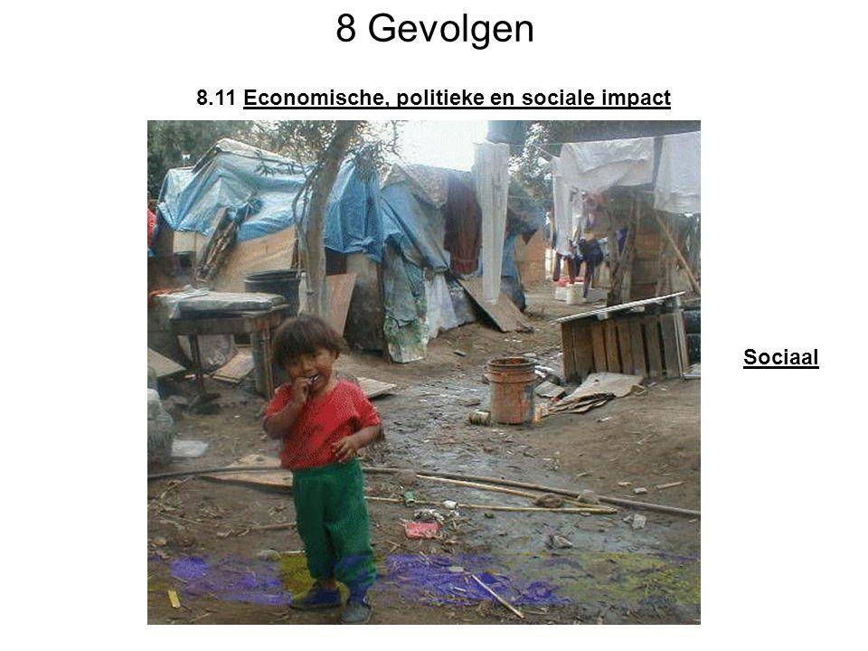 8 Gevolgen 8.11 Economische, politieke en sociale impact Sociaal