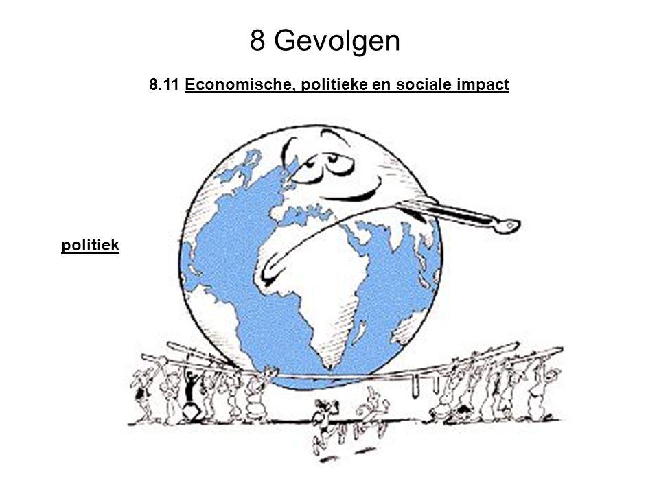 8 Gevolgen 8.11 Economische, politieke en sociale impact politiek