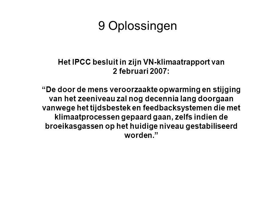 Het IPCC besluit in zijn VN-klimaatrapport van
