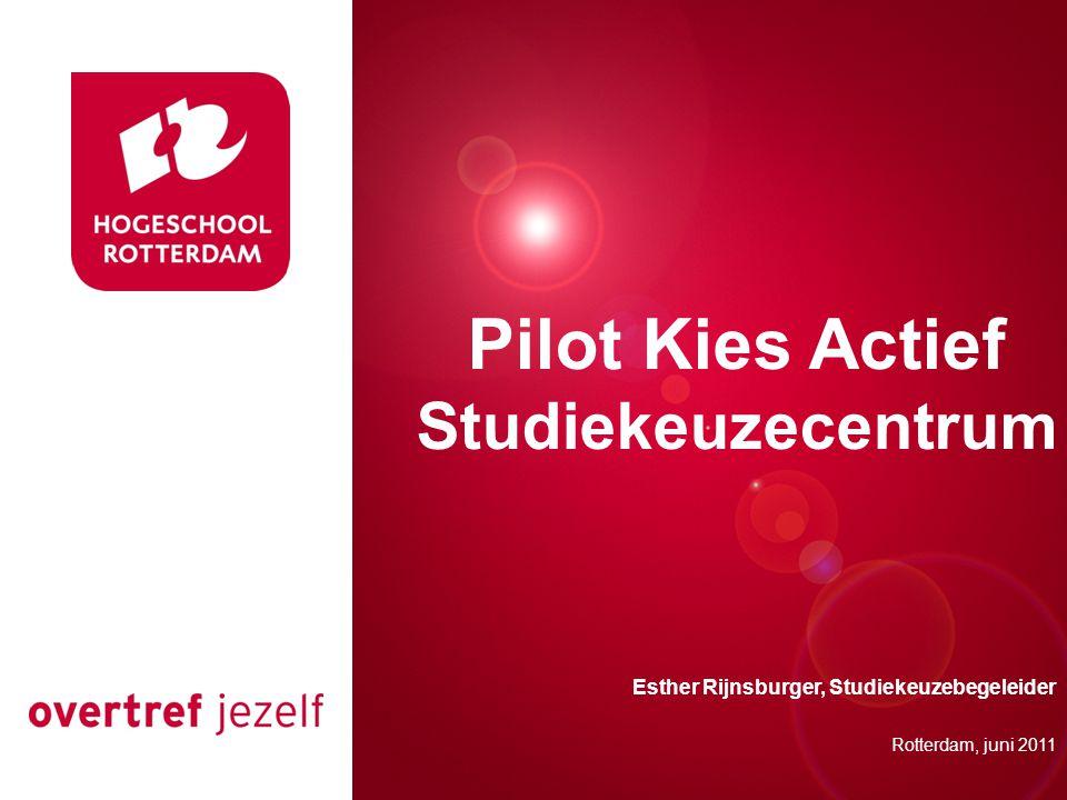 Pilot Kies Actief Studiekeuzecentrum