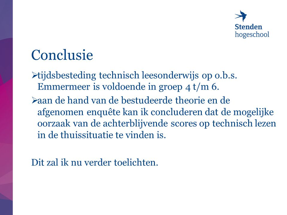 Conclusie tijdsbesteding technisch leesonderwijs op o.b.s. Emmermeer is voldoende in groep 4 t/m 6.