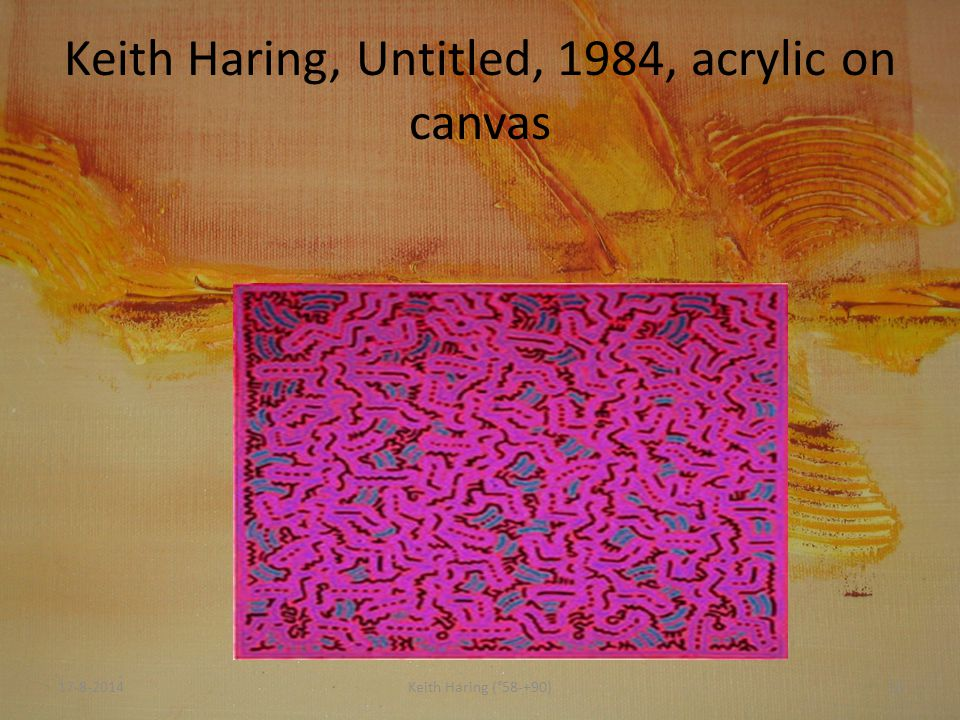 Keith Haring, Untitled, 1984, acrylic on canvas