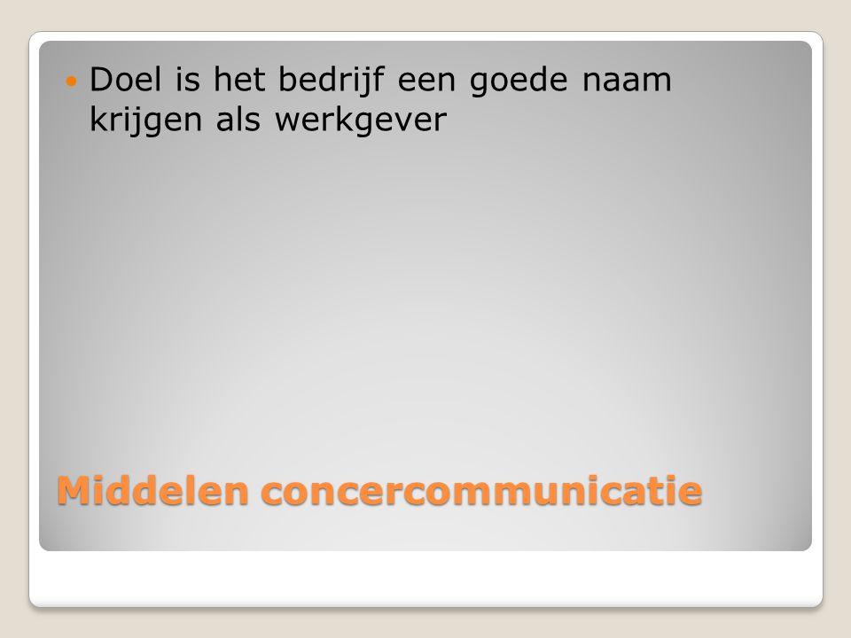 Middelen concercommunicatie