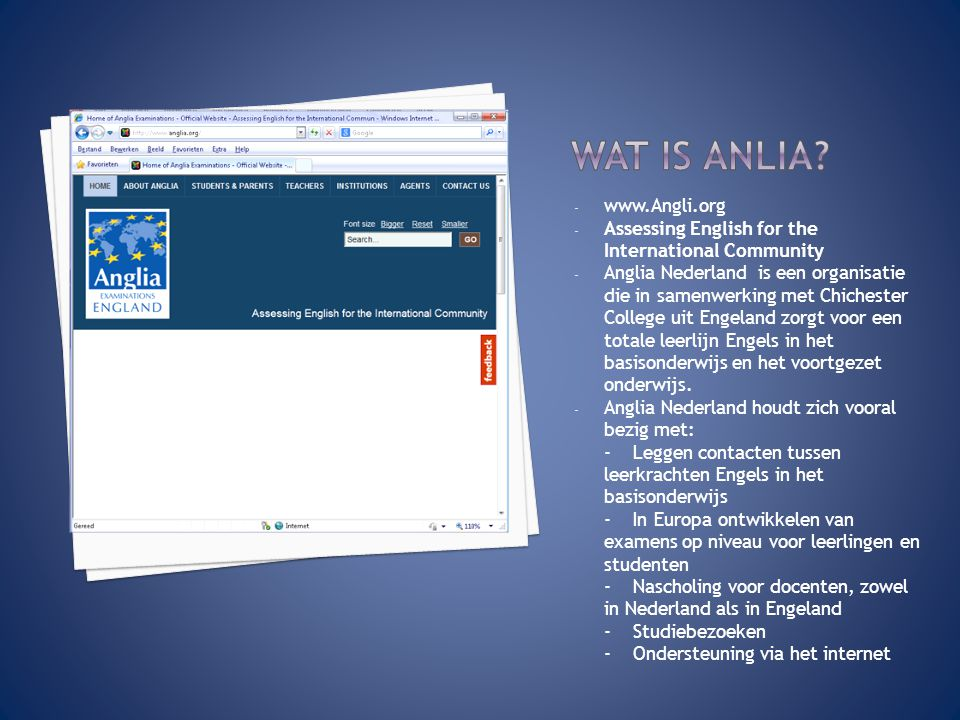Wat is Anlia www.Angli.org