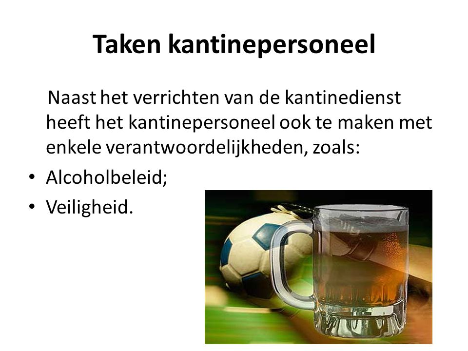 Taken kantinepersoneel