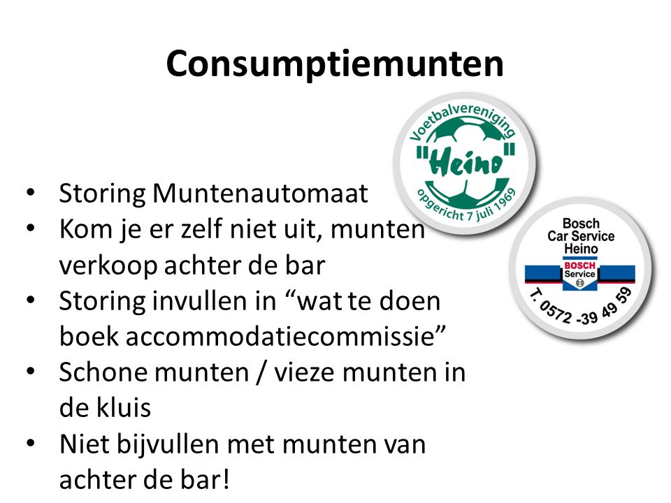 Consumptiemunten Storing Muntenautomaat