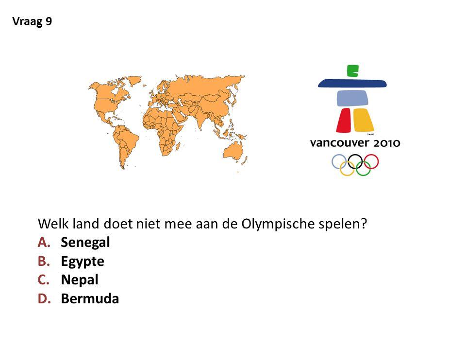 Welk land doet niet mee aan de Olympische spelen Senegal Egypte Nepal