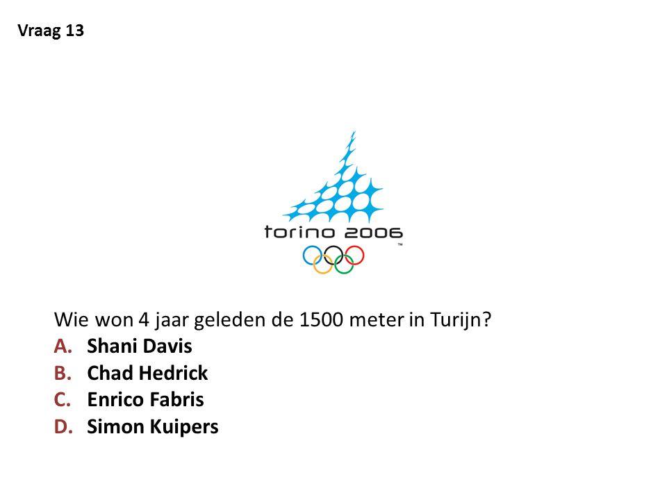 Wie won 4 jaar geleden de 1500 meter in Turijn Shani Davis