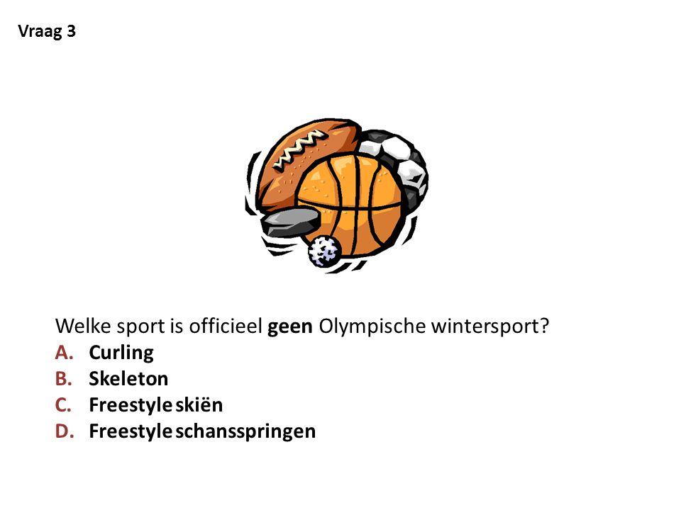 Welke sport is officieel geen Olympische wintersport