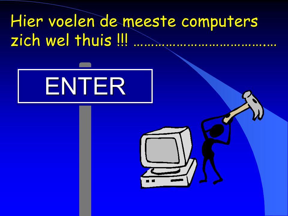 Hier voelen de meeste computers zich wel thuis !!! ……………………………….…