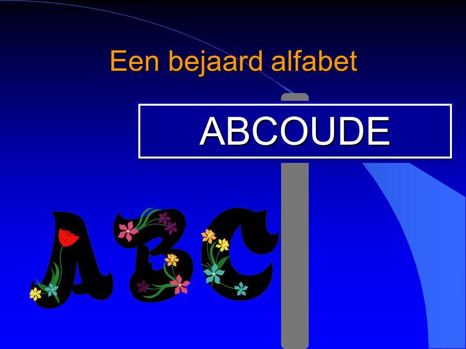 Een bejaard alfabet ABCOUDE