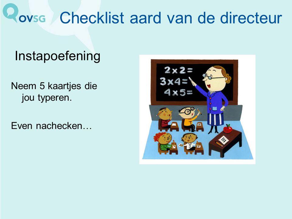 Checklist aard van de directeur