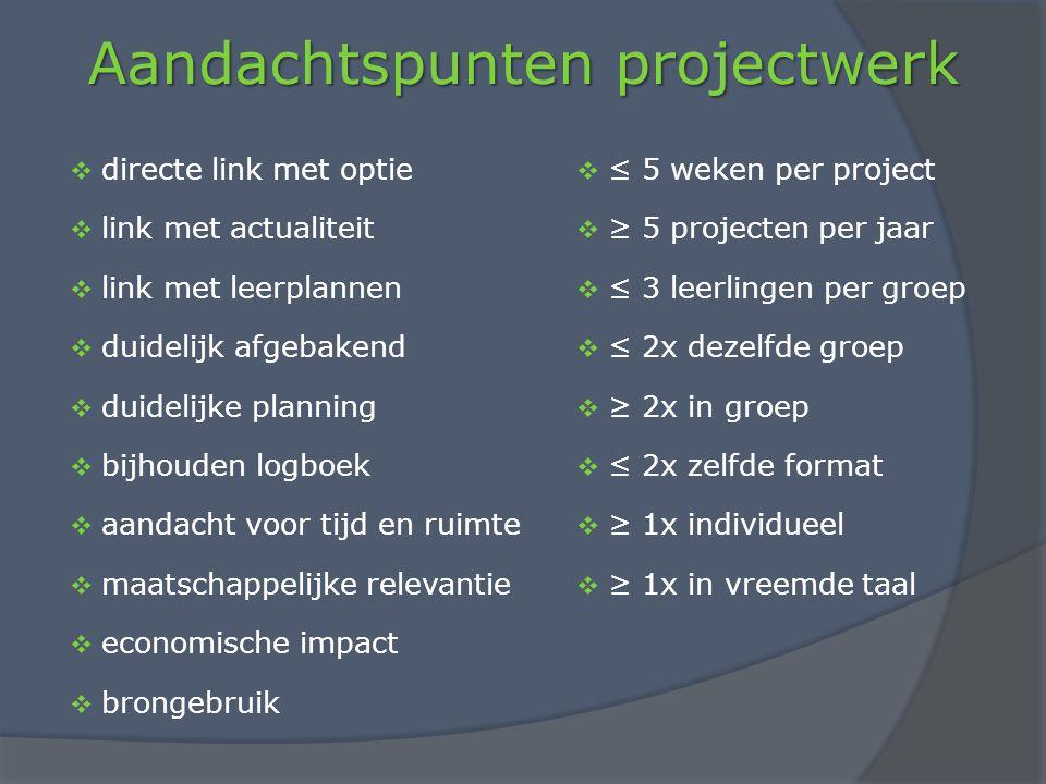 Aandachtspunten projectwerk