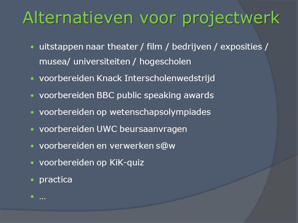 Alternatieven voor projectwerk
