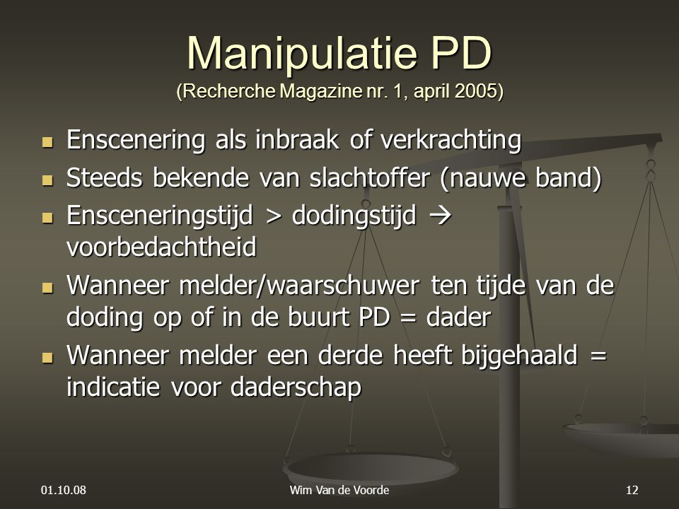 Manipulatie PD (Recherche Magazine nr. 1, april 2005)