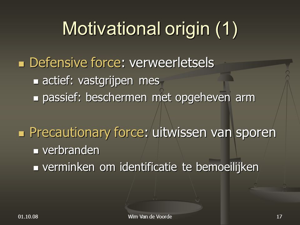 Motivational origin (1)