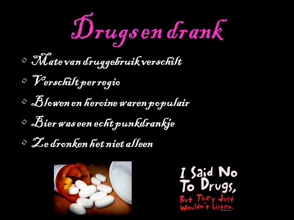Drugs en drank Mate van druggebruik verschilt Verschilt per regio