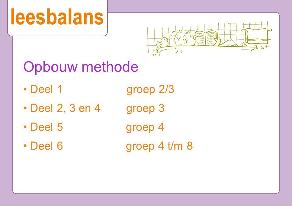 Opbouw methode • Deel 1 groep 2/3 • Deel 2, 3 en 4 groep 3