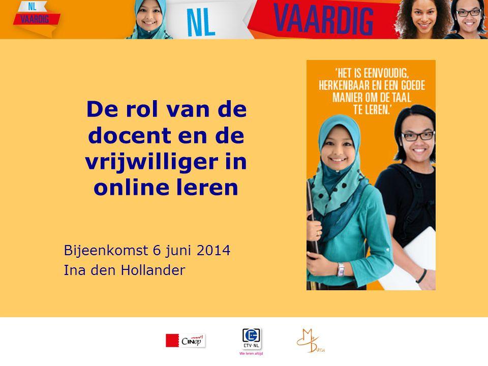 De rol van de docent en de vrijwilliger in online leren