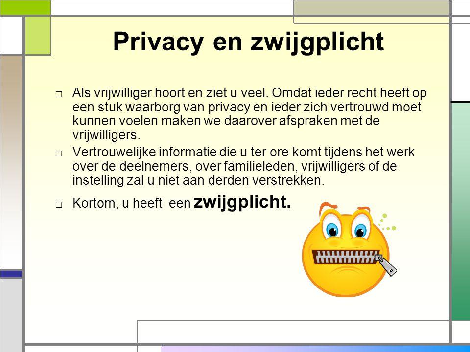 Privacy en zwijgplicht