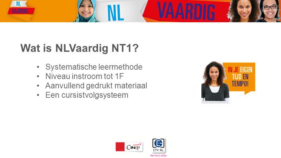 Wat is NLVaardig NT1 Systematische leermethode Niveau instroom tot 1F