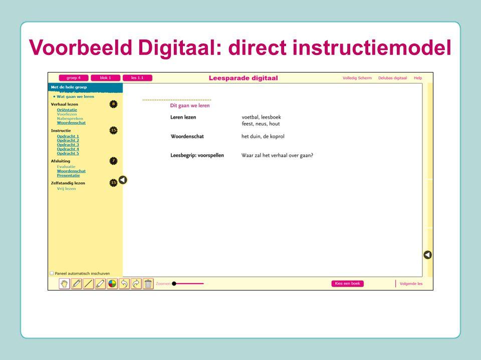 Voorbeeld Digitaal: direct instructiemodel