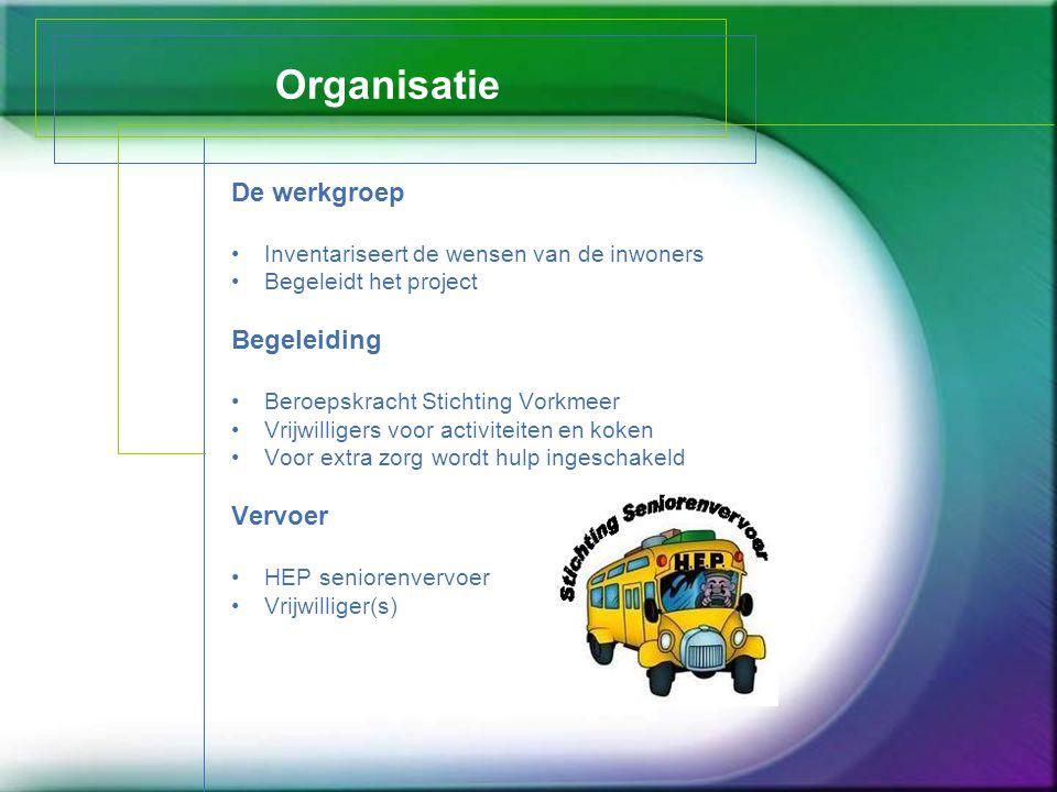 Organisatie De werkgroep Begeleiding Vervoer