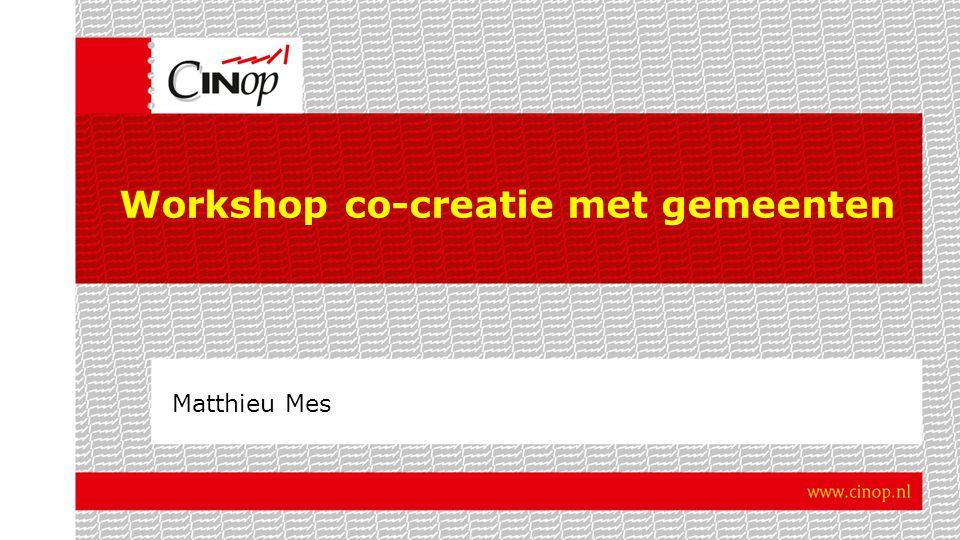 Workshop co-creatie met gemeenten