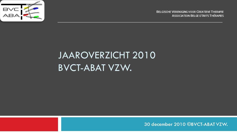 jaaroverzicht 2010 bvct-abat vzw.