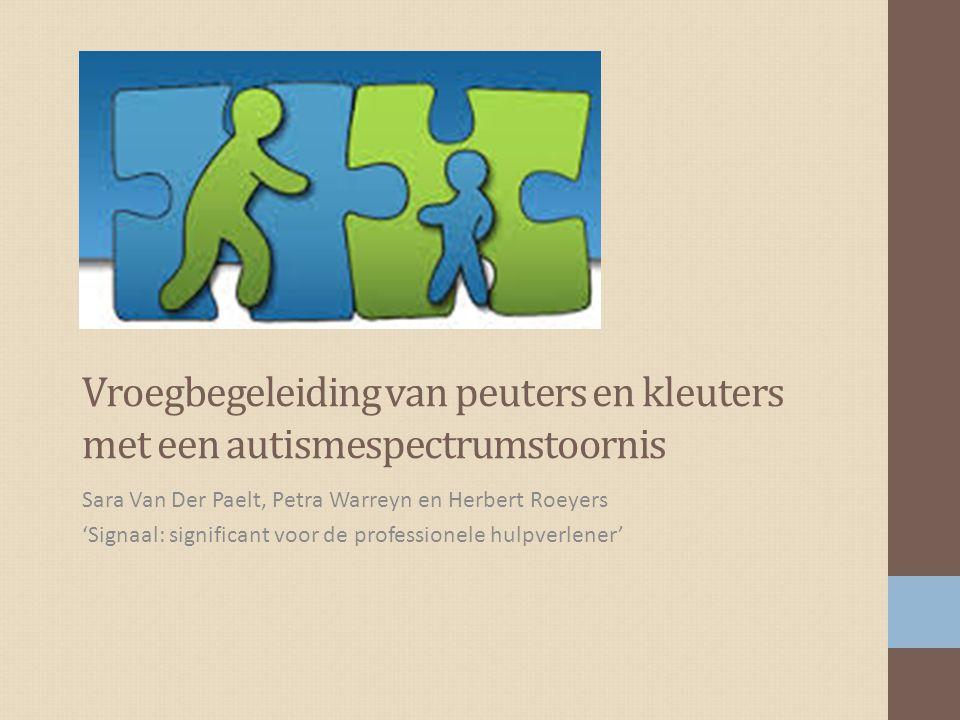 Vroegbegeleiding van peuters en kleuters met een autismespectrumstoornis