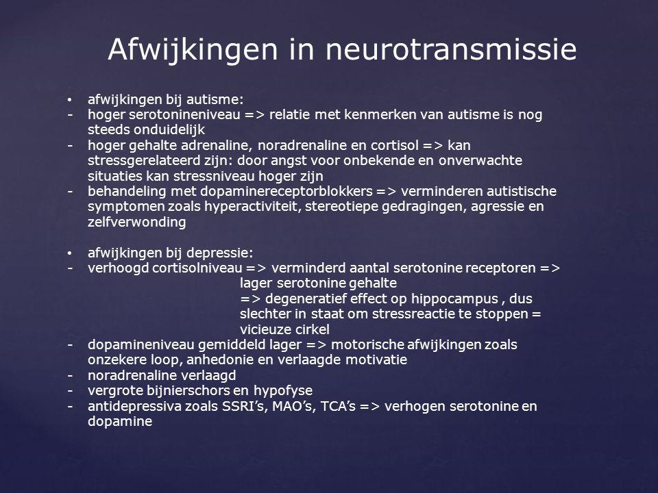 Afwijkingen in neurotransmissie
